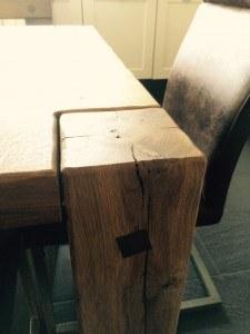 Tafelpoot van hout