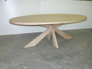 Eettafel in ovaal vorm